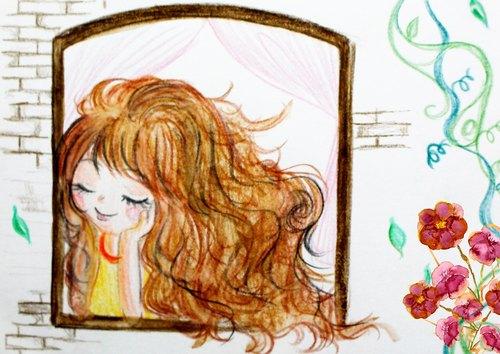 【插畫明信片】 思   念 ● AxMon手繪插畫明信片