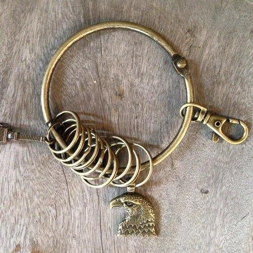 鑰匙圈/仿舊復古守門人大鑰匙圈-不朽老鷹