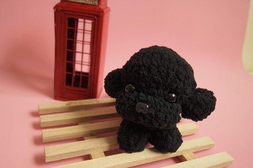手工寵物-黑貴賓卡套+狗狗骨吊飾