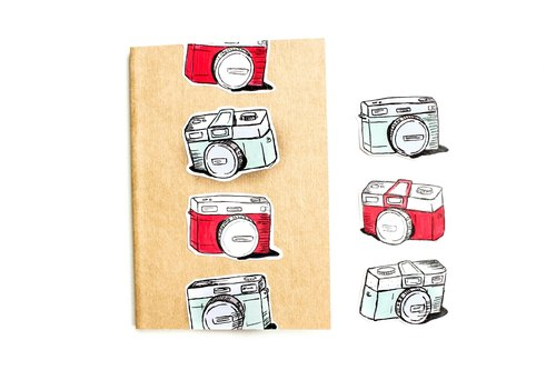 全手绘. 无印刷. 手工笔记本手帐 可爱贴纸 底片相机lomo
