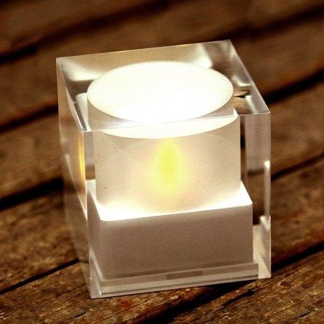 Eco friendly LED sunlight cube candle 環保太陽能LED燈燭台
