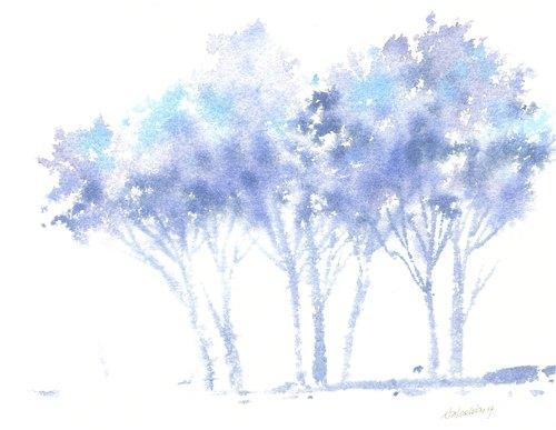 """""""疗愈系树林系列1-54""""水彩手绘限量版明信片/贺卡"""