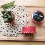 maste Masking Tape 和紙膠帶 Basic 明色系【紅底藍點 (MST-MKT02-RE)】