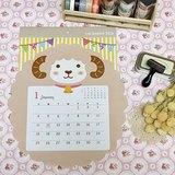 日本 amifa 2015 小綿羊造型月曆/掛曆 (27716)