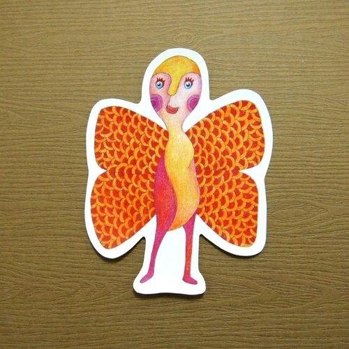 中山先生-風格貼紙-蝴蝶的美