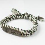 BELIEVE編繩系列(情人節款式)-綠白綜合色