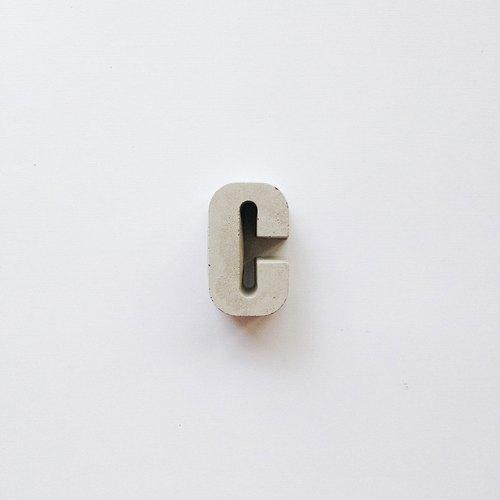 混凝土文字磚(本色灰) - Concrete Bricks