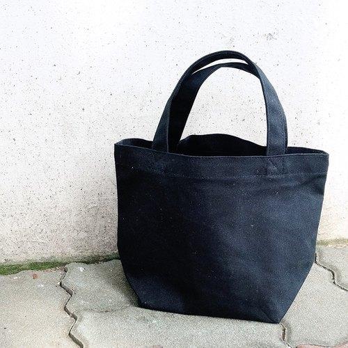 黑色帆布小提袋