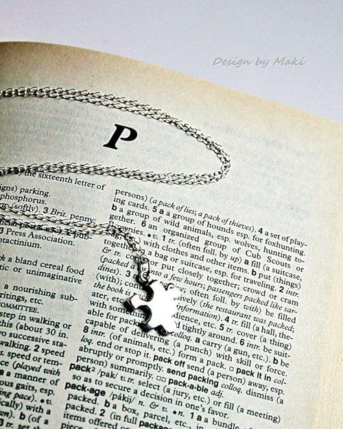 純銀拼圖項鍊Sterling Silver Puzzle Necklace