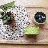 maste Masking Tape 和紙膠帶 Basic 明色系【黃色曲線 (MST-MKT02-YE)】