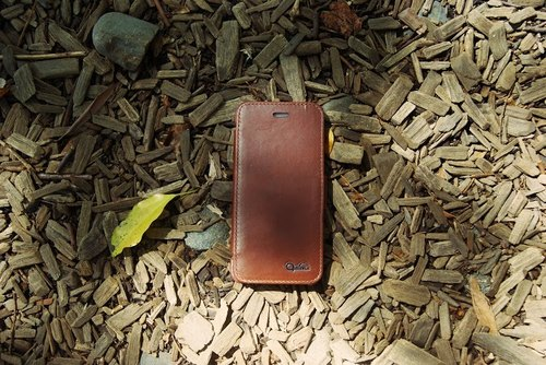 Optima iPhone 6/6s Plus 真皮系列側掀皮套 咖