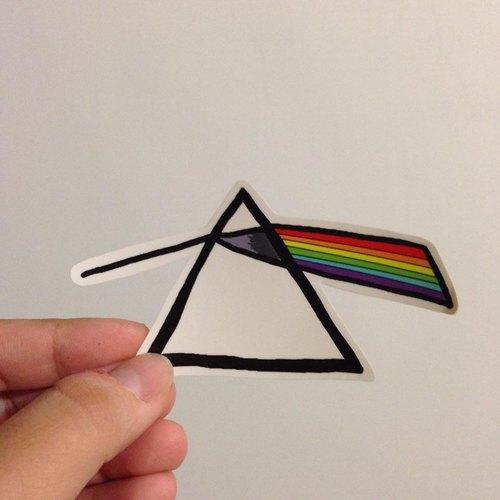 571/ Pink Floyd 三稜鏡 貼紙