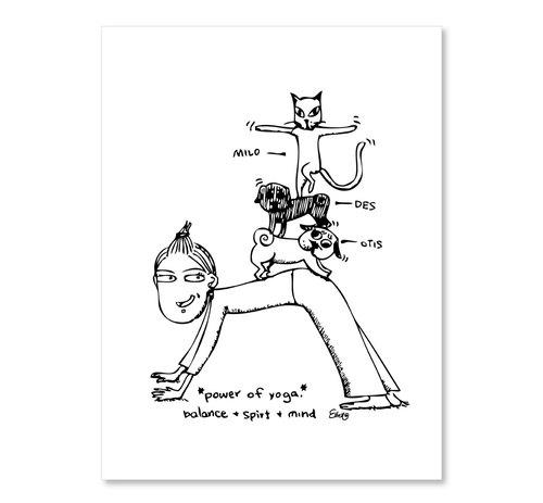 明信片黑白系列- 平衡运动
