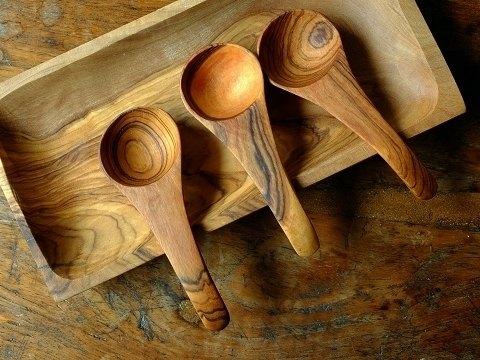 橄榄木原木系列 长宽把圆匙组(一组含两只)