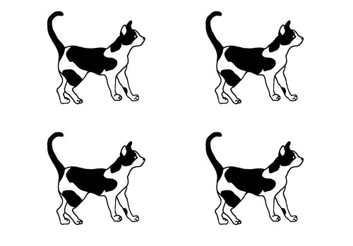 小猫 纹身贴纸 刺青 tattoo sticker