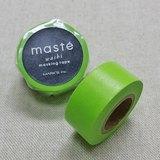 日本 maste 和紙膠帶 Basic 限定系列【素色/萊姆綠 (MST-MKT44-GN)】