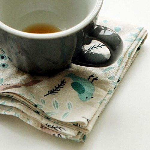 Dailylike-北歐風綿質手帕領巾-11 鳥鳴山丘,E2D20158