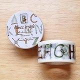 Aimez le style 28mm和紙膠帶 (04499 英文字母-露營)