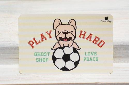 悠遊卡貼紙-足球法鬥