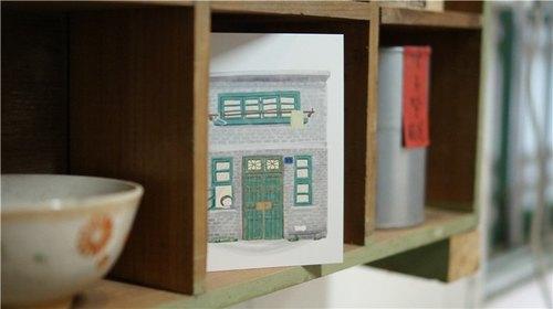 打嗝文化明信片《家》系列插畫 《老房子》系列插畫(淺灰色磚款)