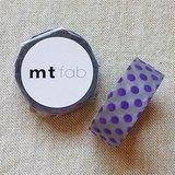 mt 和紙膠帶 fab 植絨系列【水玉款 淺灰+紫藍(MTFL1P11)】