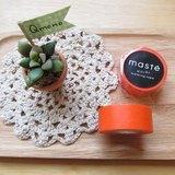 maste Masking Tape 和紙膠帶 Basic 亮彩明色系【素色橘 (MST-MKT01-OR)】