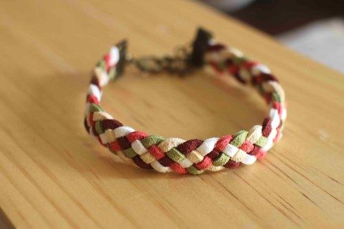 編織手環--韓國麂皮絨【香堤上的偶遇】