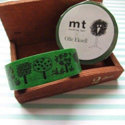 mt 和紙膠帶北歐系列Olle Eksell【Trees(MTOLLE01)】生產完了品
