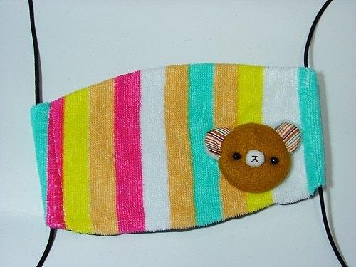 「熊幸福」手工缝制口罩 _05