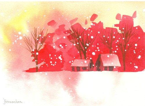 粉色水彩渲染素材