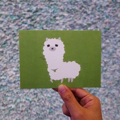 設計明信片|Alpaca 草泥馬