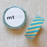 mt 和紙膠帶 fab 植絨系列【斜紋款 奶油黃+薄荷綠(MTFL1P13)】