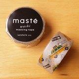 maste 和紙膠帶 Travel系列【計程車小黃(MST-MKT121-A)】日本直營限定