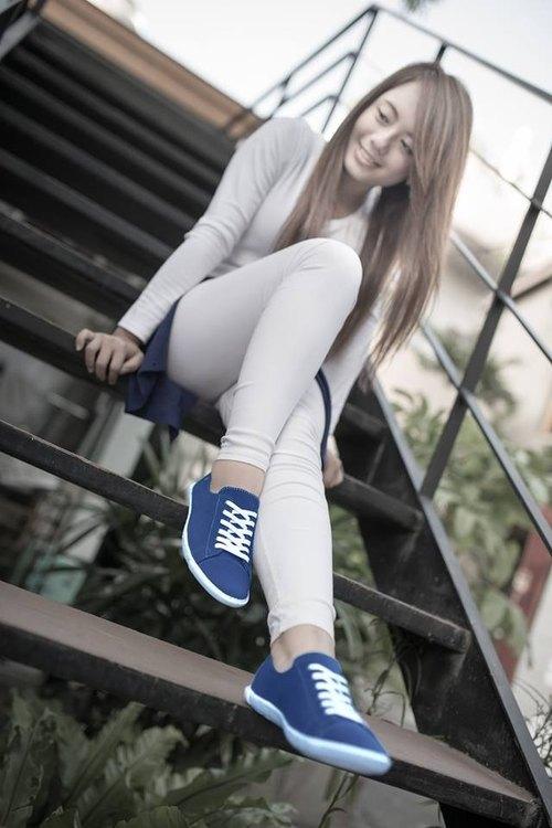 FYE法國環保鞋  汽水藍 台灣寶特瓶纖維(再回收概念,耐穿,不會分解)  女生款休閒鞋---舒適‧簡約。