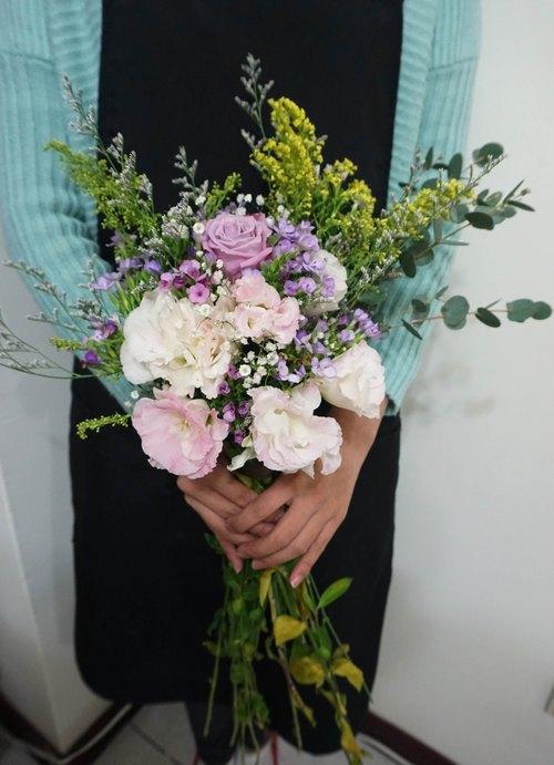 自然系花束 鮮花捧花