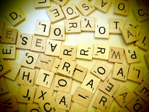 Scrabble 拼字遊戲字母 英文字母 A-Z 客製化 聖誕節 交換禮物