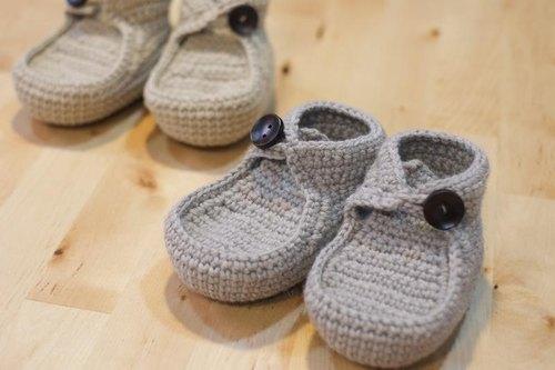 毛线编织宝宝婴儿鞋 帆船鞋 - 梦梦 x 手作 | pinkoi