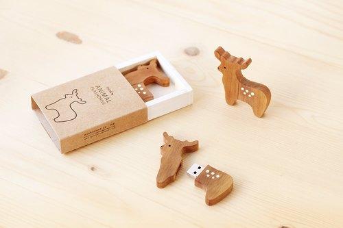 麋鹿造型木头 usb 2.0