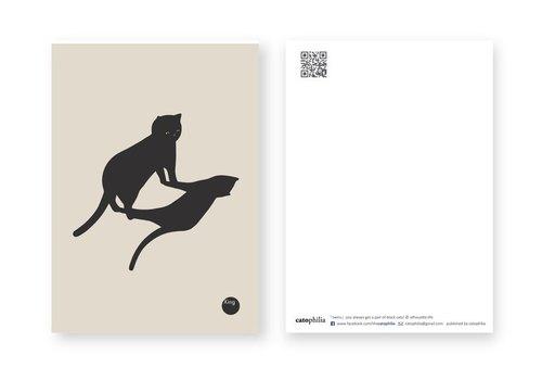 silhouette life 剪影生活明信片 - 雙子
