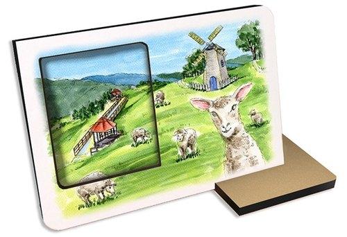 台灣十大旅遊景點~南投清境農場~30秒 聲光  可錄音 相框照片 禮物 景點 卡片