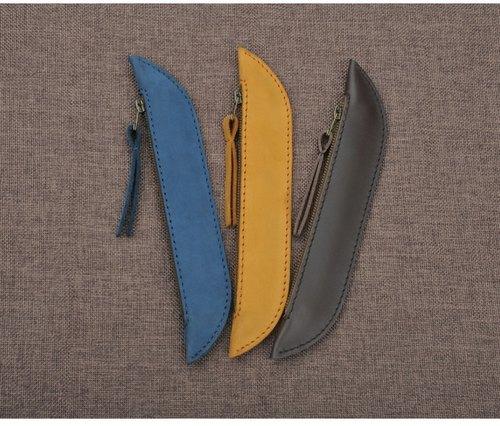 豌豆莢牛皮筆袋 鉛筆袋 鋼筆套 圓珠筆套 獨家手工製作  四色選擇