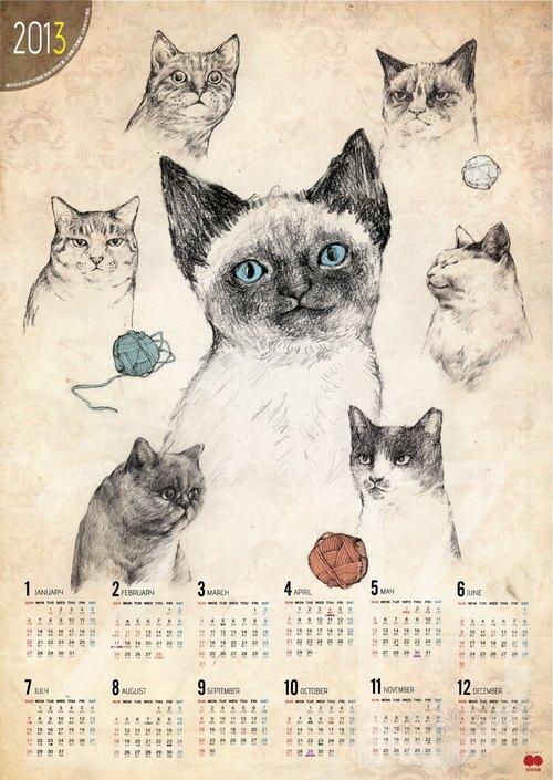 2013年喵仔年曆海報