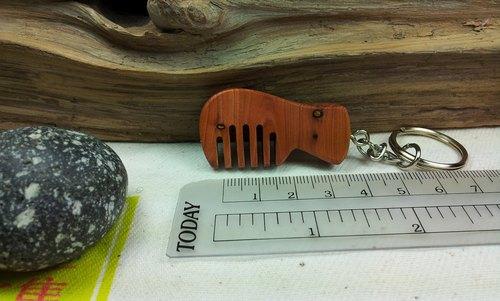 台灣龍柏木梳子造形鑰匙圈吊飾