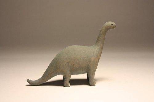 疗愈系木雕小动物_小腕龙brachiosaurus