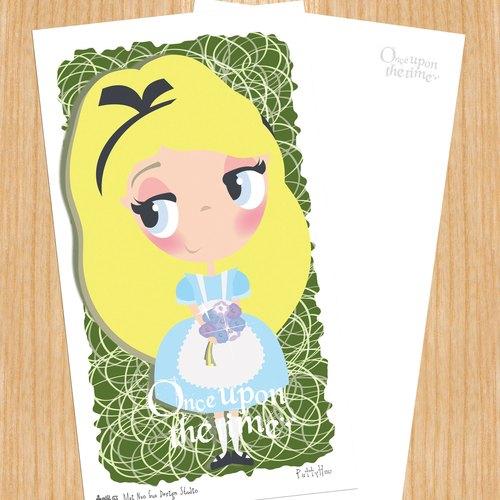 賣腦瓜小公主系列明信片 - 愛麗絲夢遊仙境Alice's Adventures in Wonderland