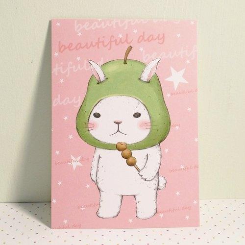 明信片-萬用卡 / 柚子兔美好的一天