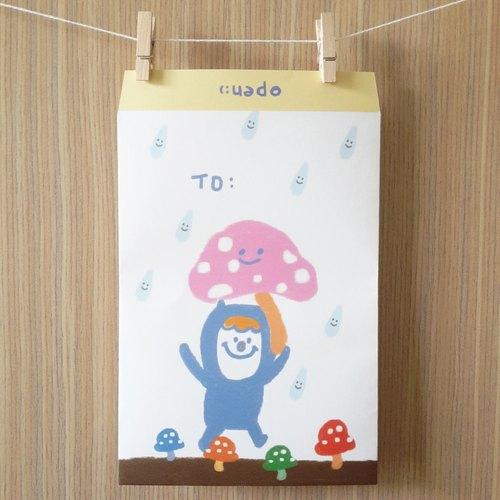可愛香菇信封袋/包裝袋(中)(10入)