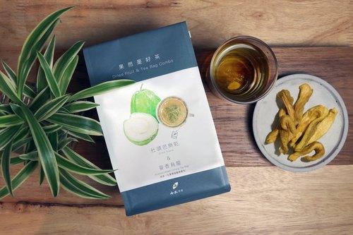 【茶點心】《果然是好茶 隨身包》社頭芭樂乾(70g)+黑豆小麥茶(1入茶包)
