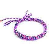 「粉藍紫日本進口繩 x 純手工編織」