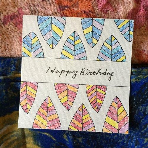 手绘卡片.13—生日贺卡